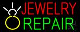 Jewelry Repair Logo Block Neon Sign
