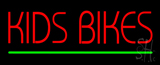 Red Kids Bikes Green Line LED Neon Sign