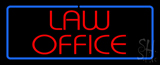 Red Law Office Blue Border LED Neon Sign
