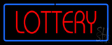 Red Lottery Blue Border LED Neon Sign