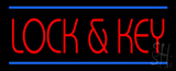 Lock and Key LED Neon Sign