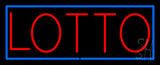 Red Lotto Blue Border Neon Sign