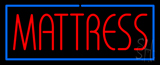 Red Mattress with Blue Border Neon Sign