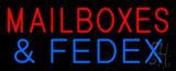 Mailboxes and FedEx Neon Sign