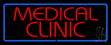 Red Medical Clinic Blue Border LED Neon Sign