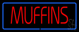 Red Muffins with Blue Border LED Neon Sign