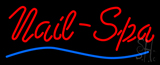 Red Nails-Spa Blue Waves Neon Sign