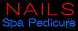 Red Nails Spa Pedicure Neon Sign