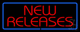 Red New Releases Blue Border LED Neon Sign