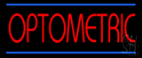 Red Optometric Blue Lines LED Neon Sign