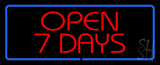 Open 7 Days LED Neon Sign