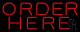 Red Order Here Neon Sign