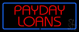 Red Payday Loans with Blue Border LED Neon Sign