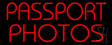 Red Passport Photos LED Neon Sign