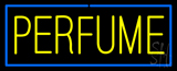 Yellow Perfume with Blue Border Neon Sign