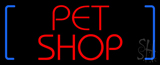 Red Pet Shop Block LED Neon Sign
