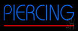 Blue Piercing Red Line LED Neon Sign