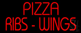 Red Pizza Ribs Wings LED Neon Sign