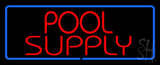 Red Pool Supply with Blue Border LED Neon Sign