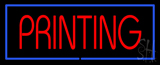 Red Printing Blue Border LED Neon Sign