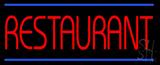 Red Restaurant Blue Border LED Neon Sign