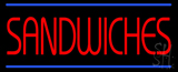 Red Sandwiches Blue Lines LED Neon Sign