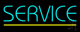 Blue Service Yellow Line LED Neon Sign