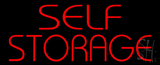 Red Self Storage LED Neon Sign