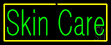 Green Skin Care Yellow Border Neon Sign