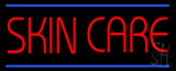 Red Skin Care Blue Lines LED Neon Sign