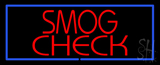 Smog Check Blue Border LED Neon Sign