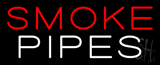 Red Smoke White Pipes Neon Sign