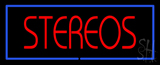 Stereos Blue Border Neon Sign
