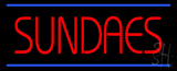 Red Sundaes Blue Lines LED Neon Sign