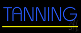 Blue Tanning Yellow Line LED Neon Sign