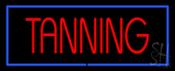 Red Tanning with Blue Border LED Neon Sign
