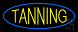Yellow Tanning Blue Oval Neon Sign
