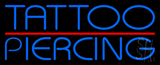 Blue Tattoo Piercing Red Line Neon Sign