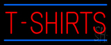 Red T-Shirts Blue Lines Neon Sign
