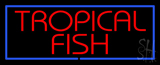 Tropical Fish Blue Border LED Neon Sign