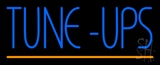 Blue Tune-Ups Yellow Line LED Neon Sign