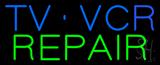 TV VCR Repair LED Neon Sign