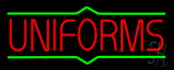 Red Uniforms Green Lines Neon Sign