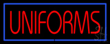 Red Uniforms Blue Border Neon Sign