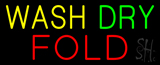Yellow Wash Dry Fold Neon Sign