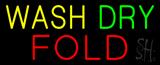 Yellow Wash Dry Fold Neon Sign