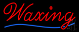 Cursive Red Waxing Neon Sign