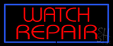 Red Watch Repair with Blue Border LED Neon Sign