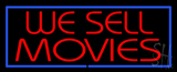 We Sell Movies Blue Border LED Neon Sign