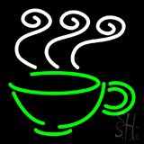 Coffee Cup Logo Neon Sign